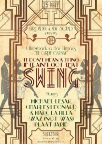 Great Gatsby inspired party flyer