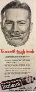 Barbasol print ad from 1952