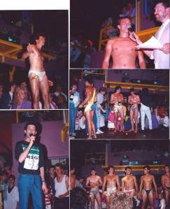 A Mr. Heaven competition from 1987. More important is to note the laser on the wall just below the DJ box