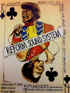 REFORM Soundsystem flyer 4th July 2015