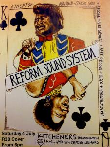 REFORM Soundsystem flyer 4th July 2015