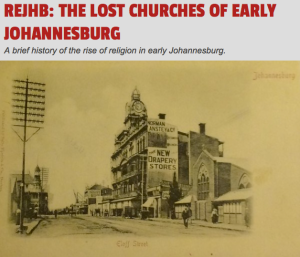 Lost churches of Johannesburg on JHBLIVE